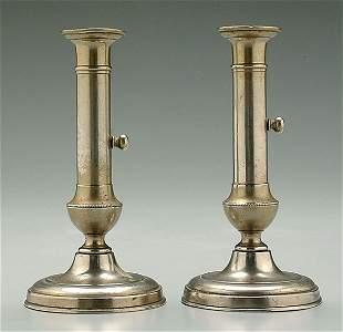 Pair 19th century candlesticks,