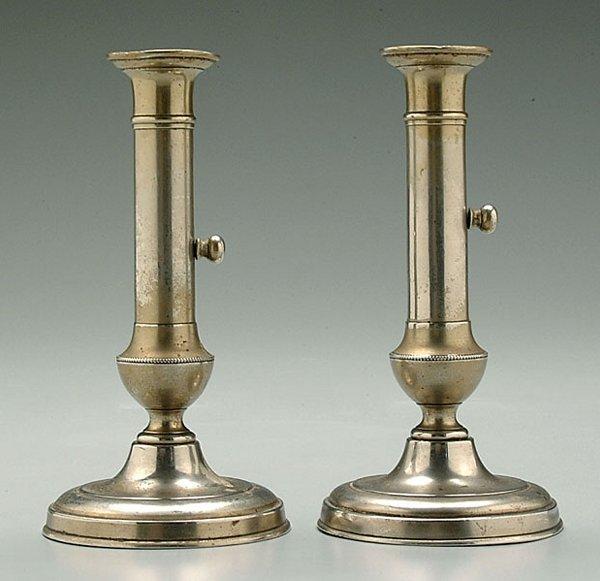 10: Pair 19th century  candlesticks,