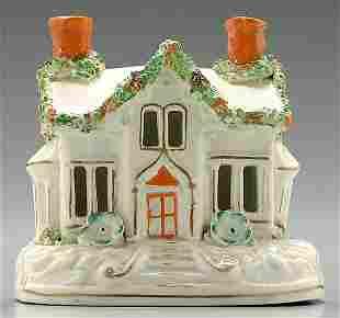 Staffordshire cottage pastille burner,