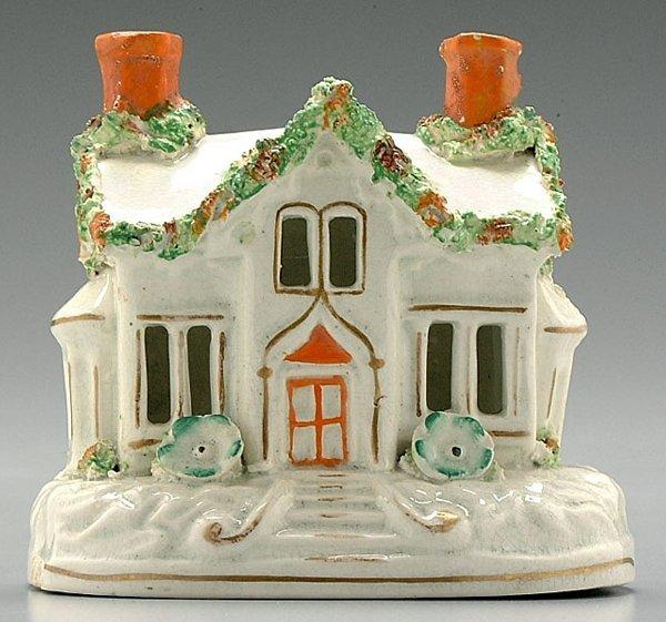 12: Staffordshire cottage pastille burner,