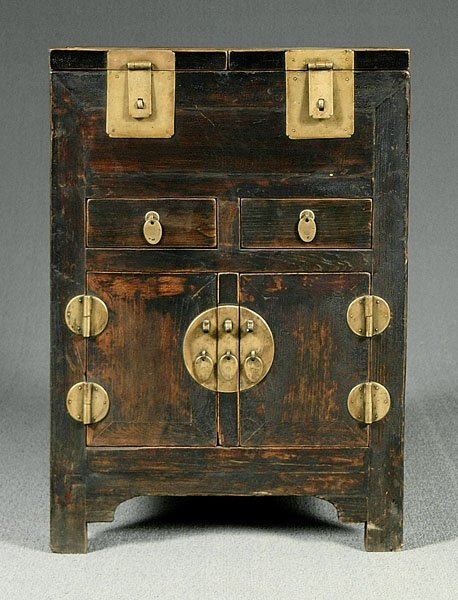 13: Brass-mounted Chinese cabinet,