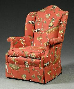 Upholstered wing chair,