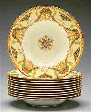 Eleven Royal Worcester bowls,