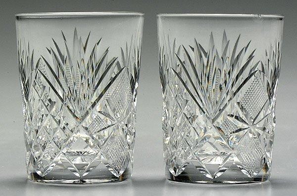 17: Nine cut glass tumblers,