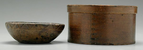 21: Lidded pantry box and bowl: