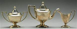 Three-piece sterling tea service
