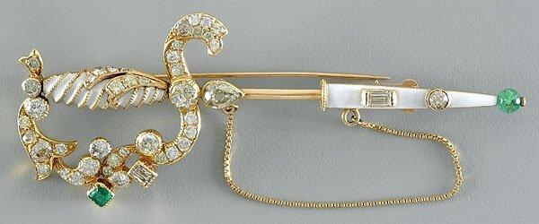 171: Diamond sword brooch,