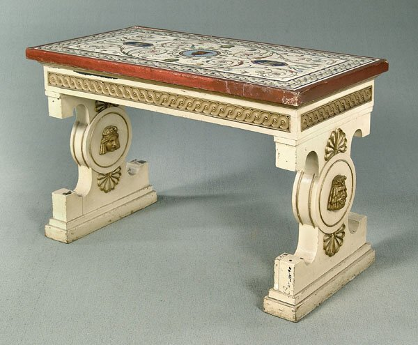260: Late 18th century micromosaic table,