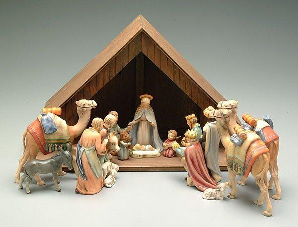 398: Hummel nativity scene,