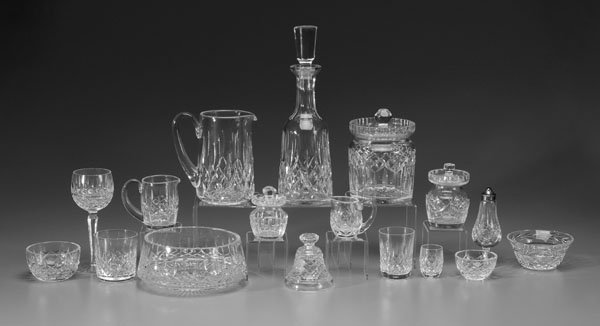 7: Sixty-five pieces Waterford crystal,