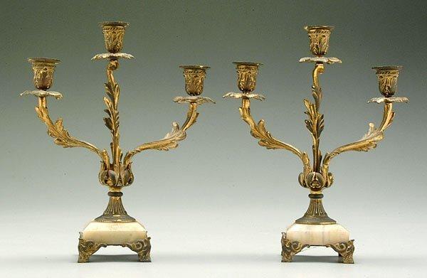 605: Pair Bradley & Hubbard candelabra,