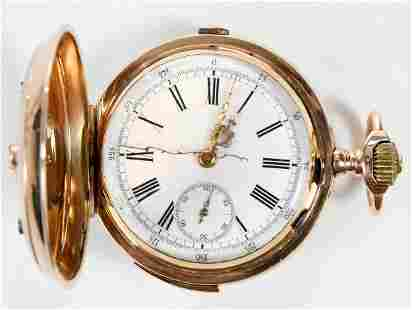 Montandon Chronograph Repeater Pocket Watch