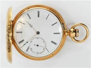 H.O. Hurlburt 18kt. Pocket Watch