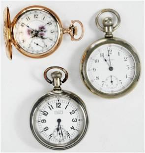 Three Waltham Pocket Watches