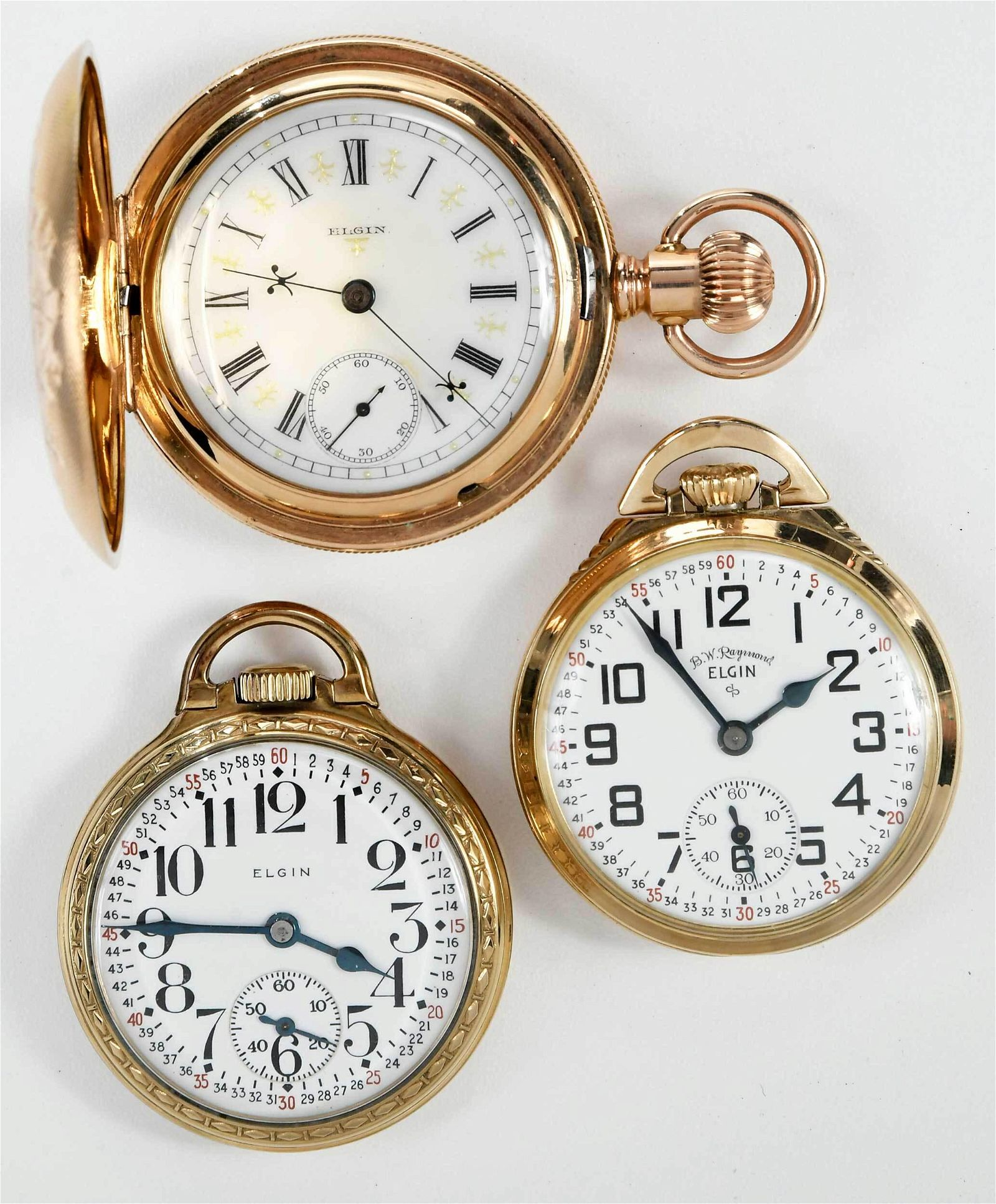 Three Elgin Pocket Watches