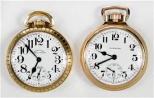 Two Hamilton Railway Pocket Watches