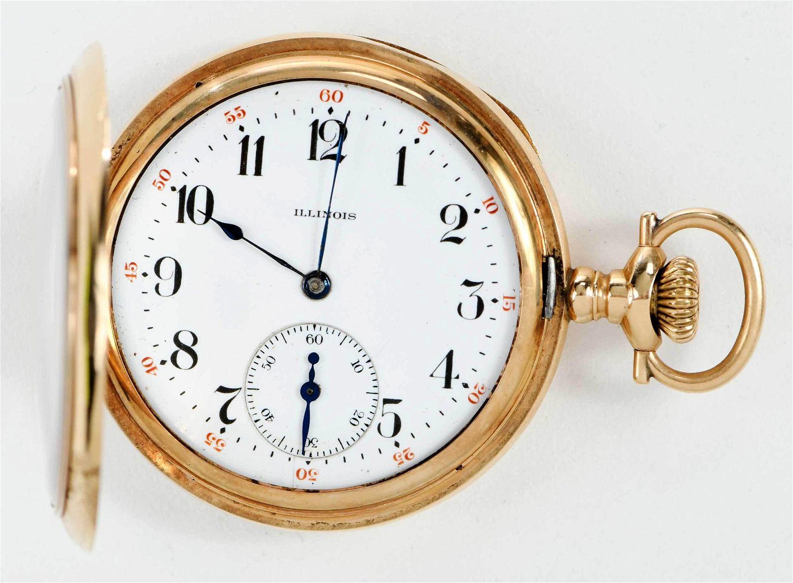 Illinois Watch Co. 14kt. Pocket Watch