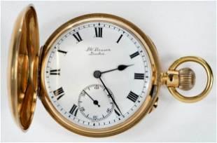 J.W. Benson 18kt. Pocket Watch