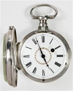 Ducommun Silver Pocket Watch