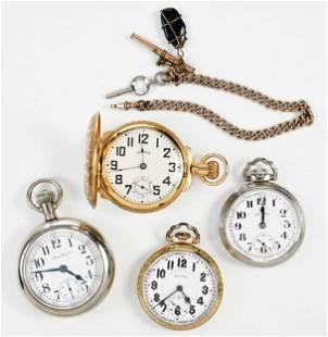 Four Illinois Pocket Watches