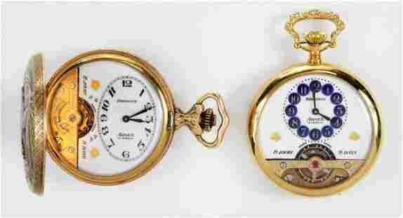 Two Hebdomas Arnex Pocket Watches