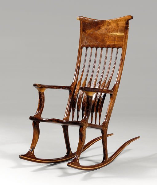 5: Hand-crafted rocking chair,
