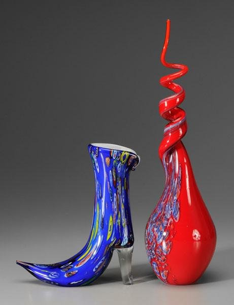 6: Murano bottle, boot: