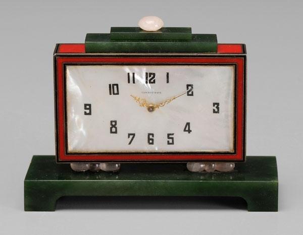 7: Tiffany Deco clock,