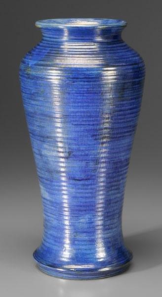 11: Blue luster Moorcroft vase,