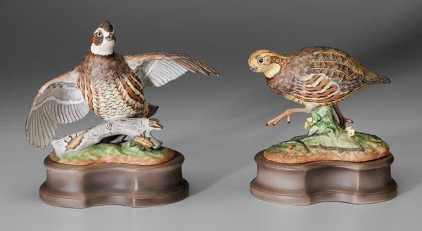 15: Two Boehm porcelain bird figurines: