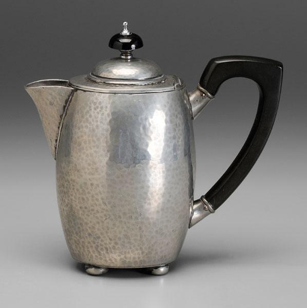 16: Liberty & Co. pewter teapot,