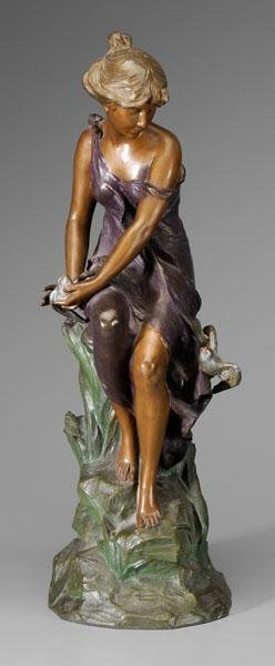 21: Alfred Jean Foretay sculpture