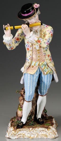 299: Pair Meissen porcelain figurines: - 2
