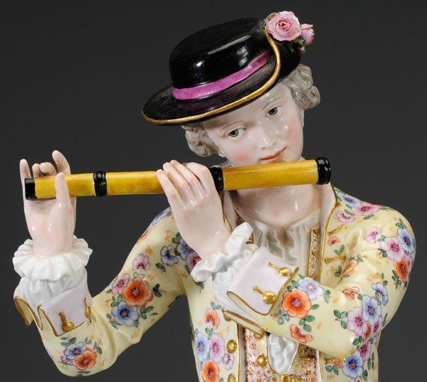 299: Pair Meissen porcelain figurines: - 3