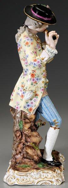 299: Pair Meissen porcelain figurines: - 4