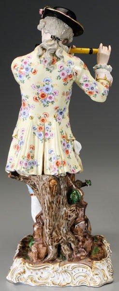 299: Pair Meissen porcelain figurines: - 5