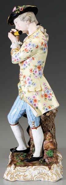 299: Pair Meissen porcelain figurines: - 6