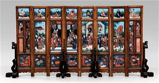 525: Chinese eight-panel table screen,