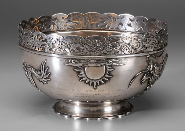 657: Chinese export silver bowl,
