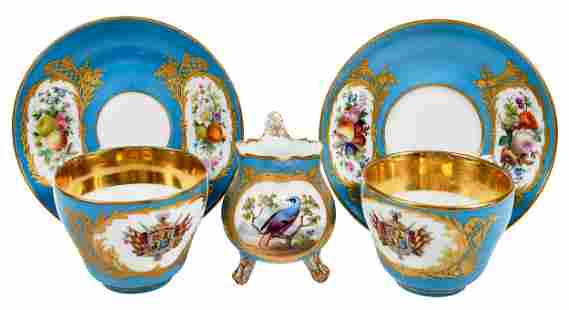 French Porcelain Tea Service for Twelve