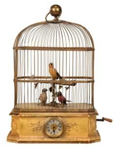 Victorian Birdcage Automaton Clock