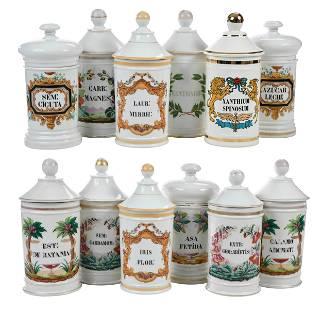 Set of Twelve Apothecary Jars