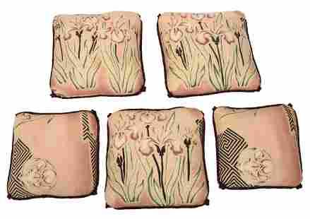 Five Handpainted Pillows