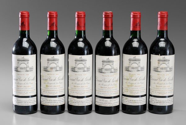 1: Six Bottles Red Bordeaux Wine