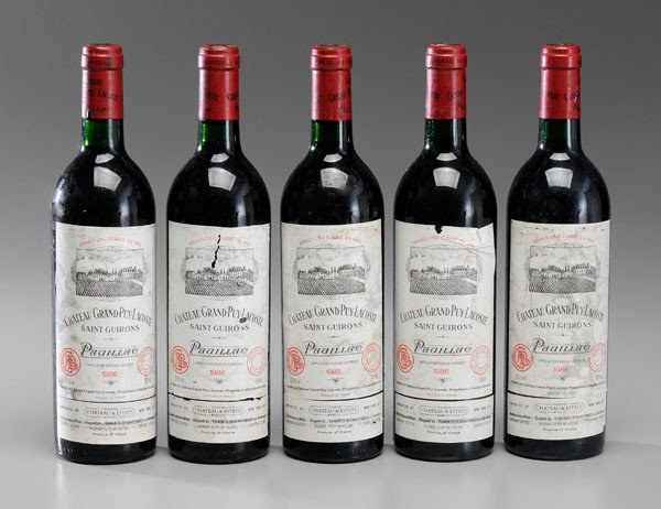 3: Five Bottles Red Bordeaux Wine