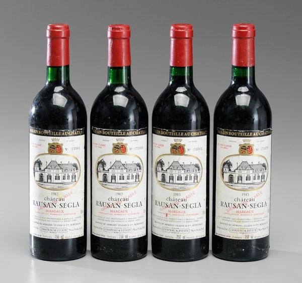 6: Four Bottles Red Bordeaux Wine