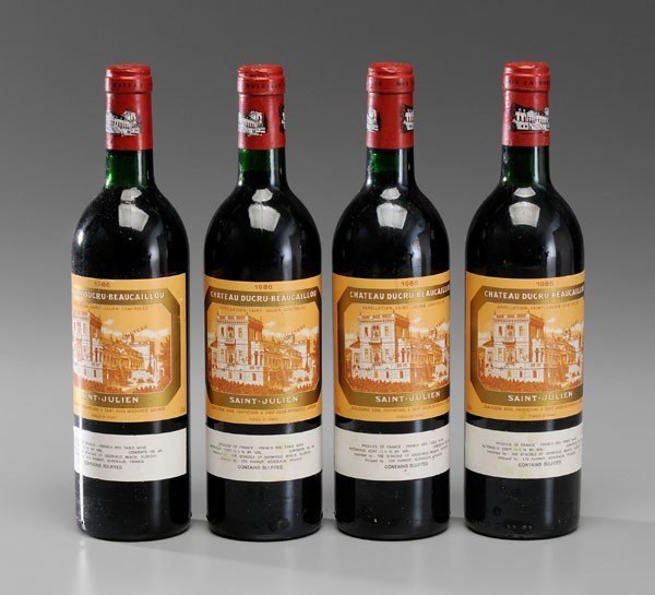 7: Four Bottles Red Bordeaux Wine