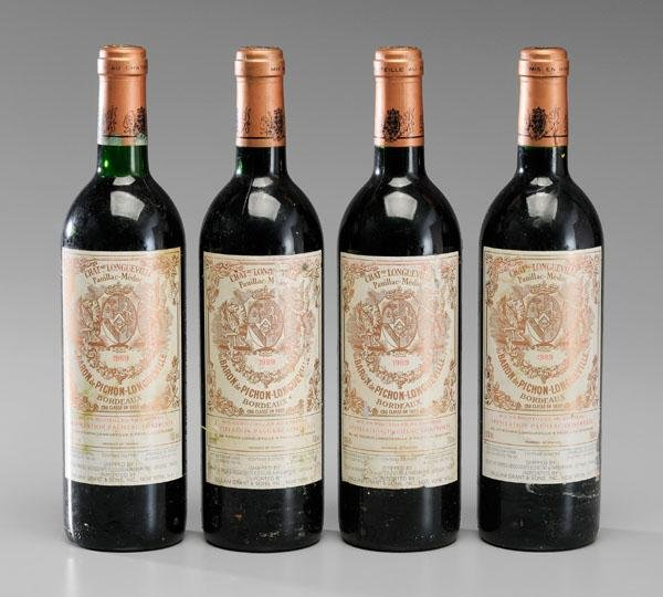 8: Four Bottles Red Bordeaux Wine