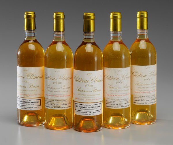 18: Five Bottles White Bordeaux Wine