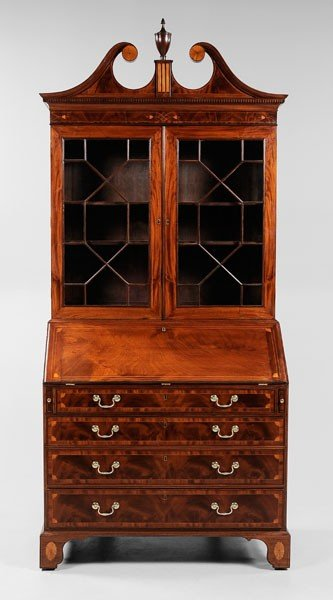 250: Very Fine Southern Desk and Bookcase